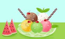 夏天的冰淇淋图片