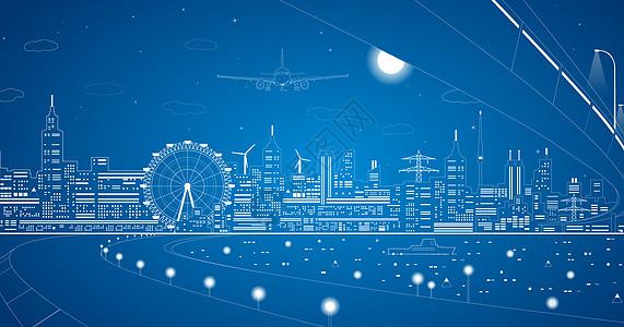 城市都市线条图片