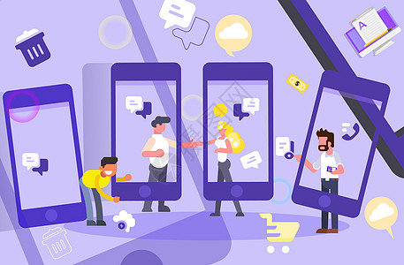 互联网通讯手机沟通图片