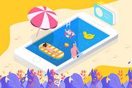 夏天泳池派对图片