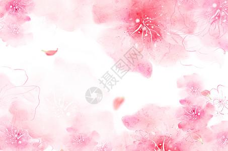 梦幻浪漫花卉背景图片