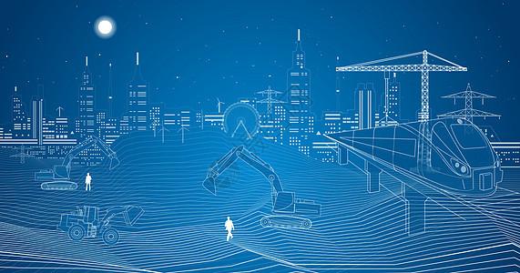 城市都市建设场景图片