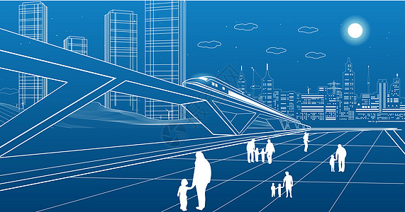 城市建筑线条图片