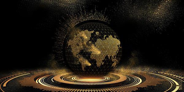 大气黑金科技地球图片