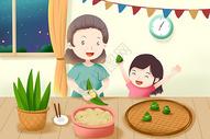 端午节 包粽子图片