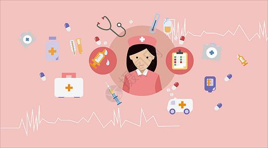 医疗矢量图标图片