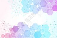 六边形网状分子结构背景图片