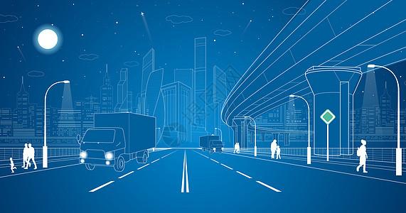 城市道路线条图片