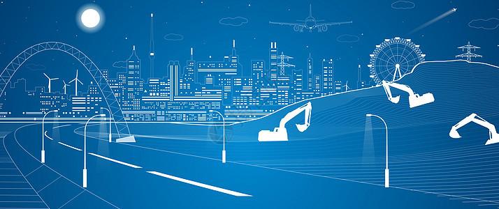 城市建设线条图片