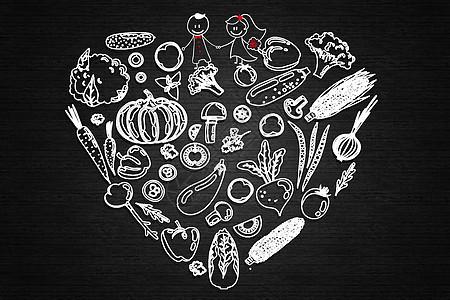 美食创意背景图片