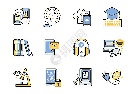 智能科技图标图片