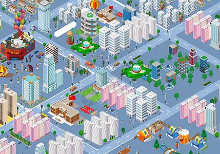 3D都市城市线条图片