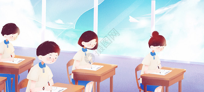 高考答题中的学生图片