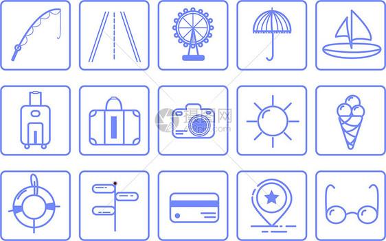 旅游MBE图标素材图片