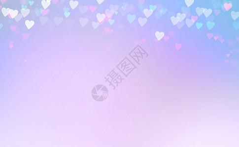 紫色心形梦幻背景图片