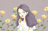 美妆女孩图片