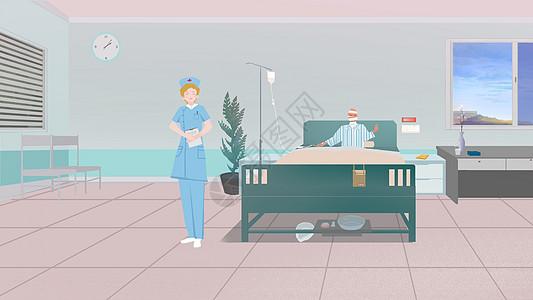 护士与患者图片