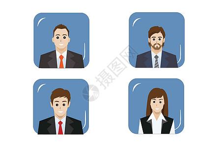 商务人士头像图片