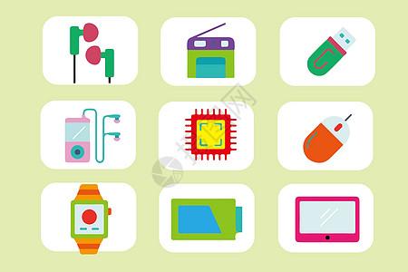 电子设备元素图标图片