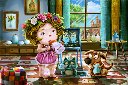 童年世界图片