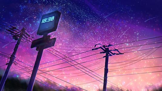 仲夏星语-夏天傍晚黄昏星空图片