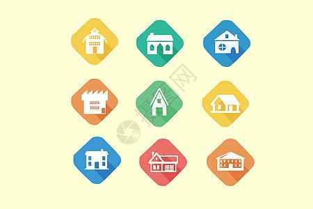 房屋建筑图标图片