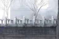 雨天古风建筑图片