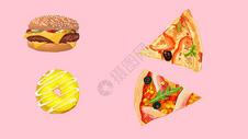 手绘食物素材图片