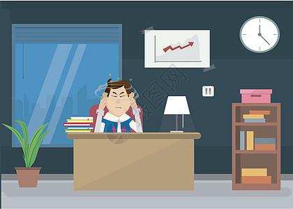 商务办公工作压力图片