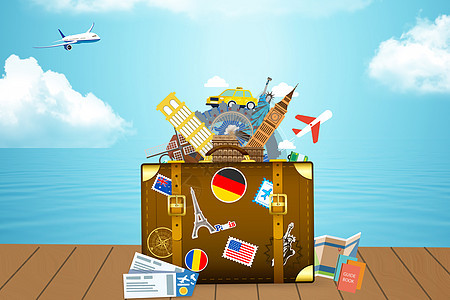 创意旅游背景图图片