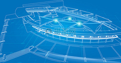 创意科技空间背景图片