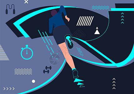 女性跑步健身图片