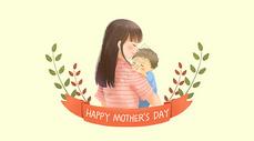 母亲节母婴插画图片