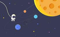 卡通太空小宇航员图片