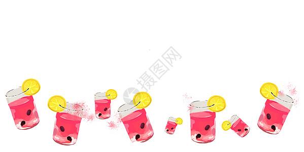 西瓜汁背景图片