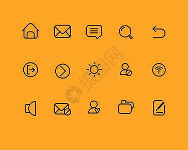 线性手机图标图片