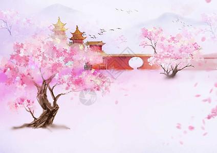 桃花景色图片