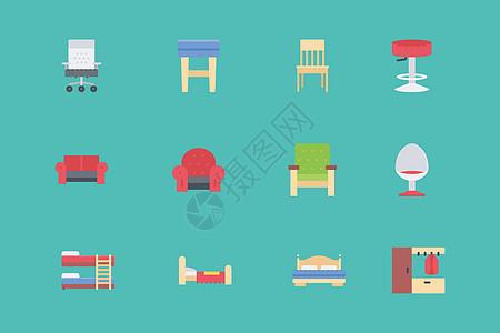卧室用品图标图片