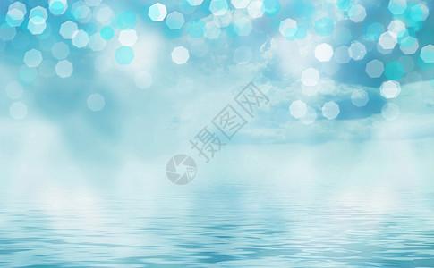 蓝色蓝色梦幻背景图片