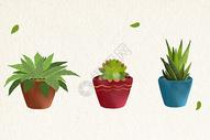 水彩植物素材图片
