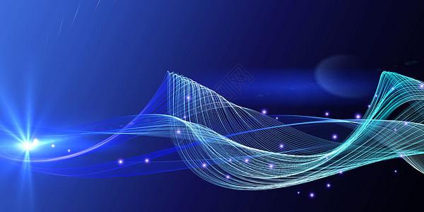 科技感商务线条背景图片