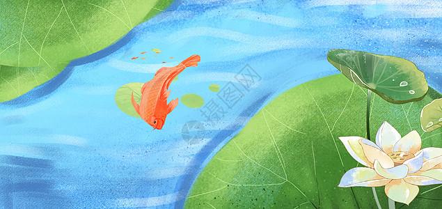 日本风景插画手绘图片图片