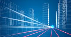 城市楼房科技线条图片
