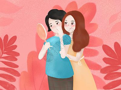 抱着妈妈的女孩图片