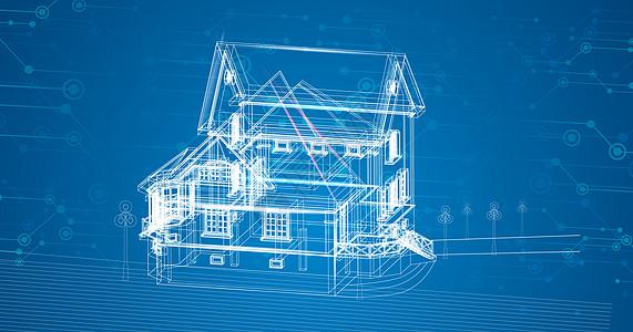 楼房科技线条图片