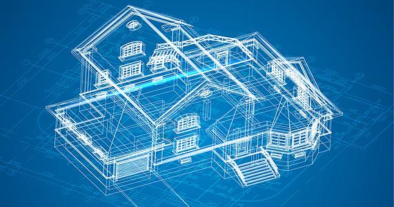 别墅科技线条图片