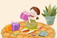 儿童节收礼物图片