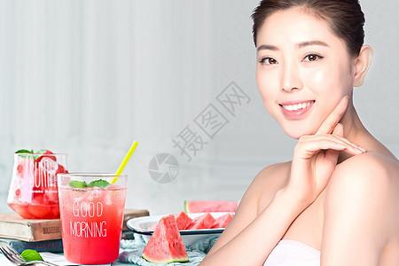 水果美容海报图片