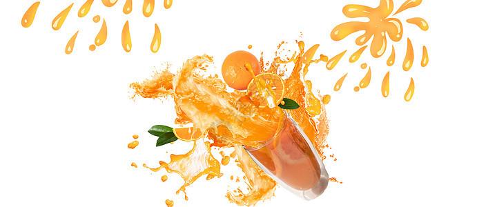 橙汁海报背景图片