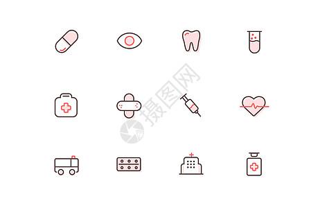 医疗线icon护士节图标图片